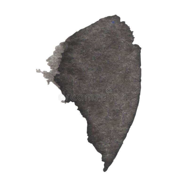 Zwarte die inktvlek op een witte achtergrond wordt geïsoleerd De textuur van Grunge royalty-vrije stock foto