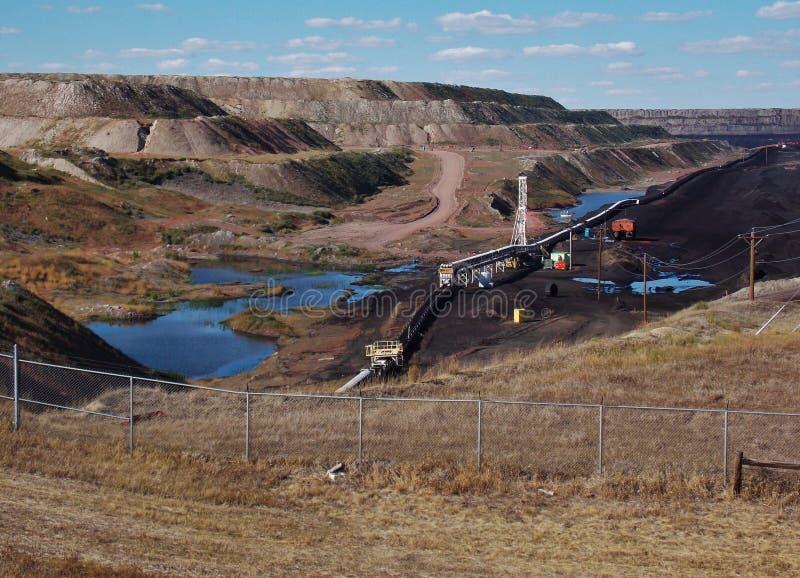 Zwarte DonderKolenmijn in Wyoming stock afbeeldingen