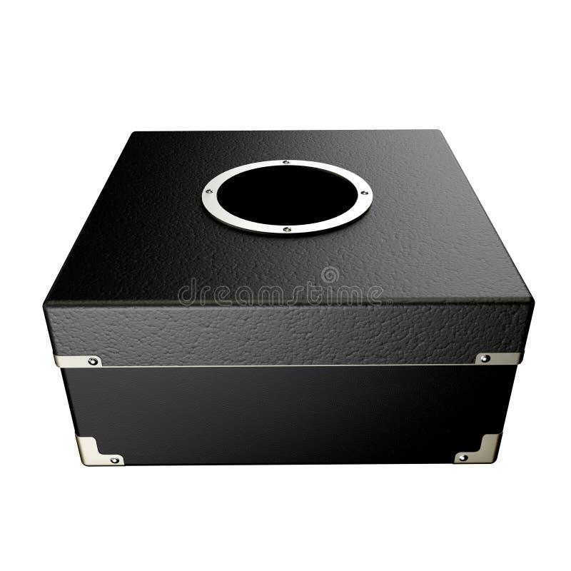 Zwarte doos vector illustratie
