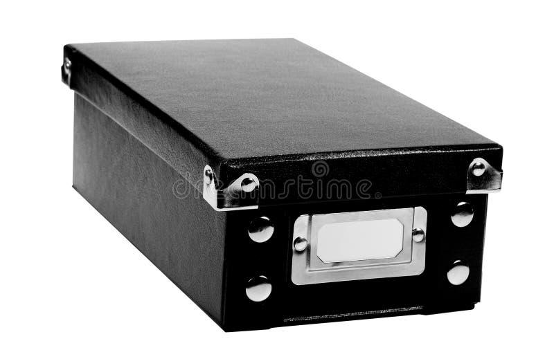 Zwarte doos royalty-vrije stock foto