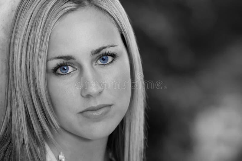 Zwarte en Blauw stock foto's