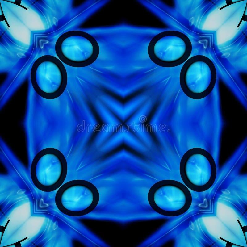 Zwarte en Blauwe Achtergrond 4 van het Patroon van de Tegel royalty-vrije illustratie