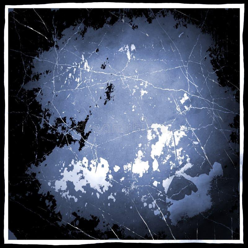 Zwarte en Blauwe Grunge royalty-vrije illustratie