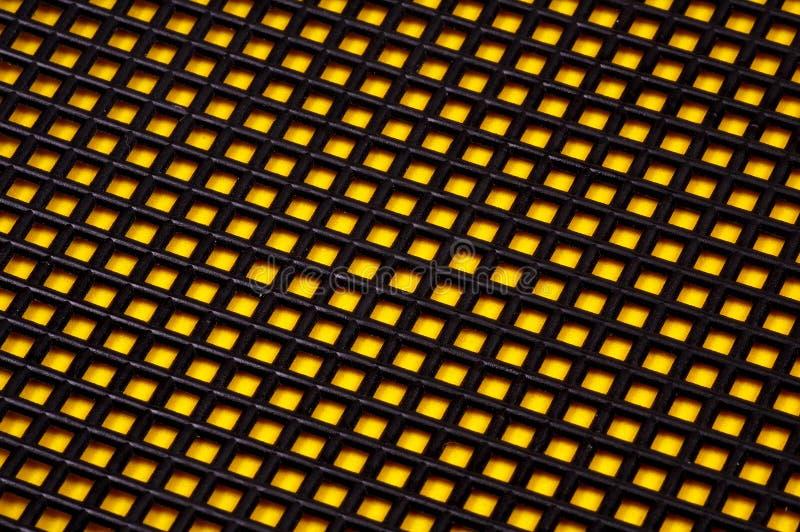 Zwarte en Gele Achtergrond stock afbeelding