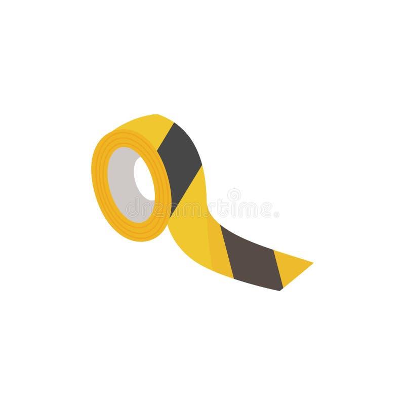 Zwarte en gele veiligheidsband vector illustratie