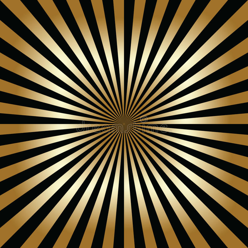 Zwarte en gouden abstracte achtergrond royalty-vrije stock fotografie
