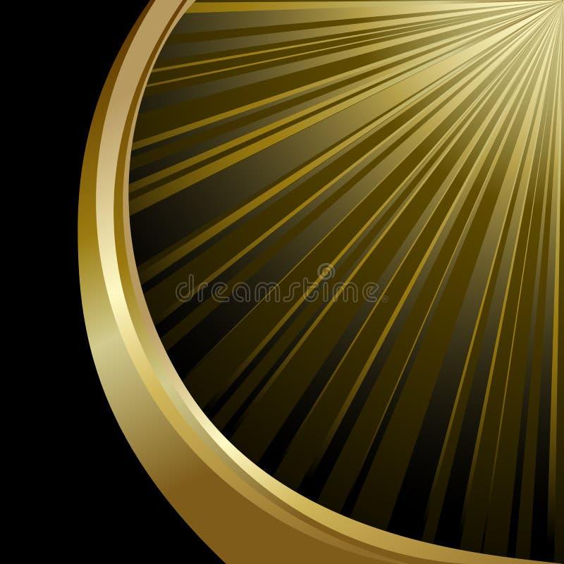 Zwarte en gouden achtergrond vector illustratie