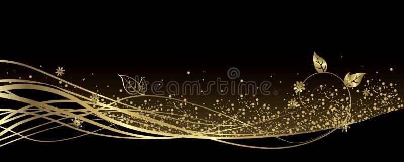 Zwarte en Gouden banner royalty-vrije illustratie