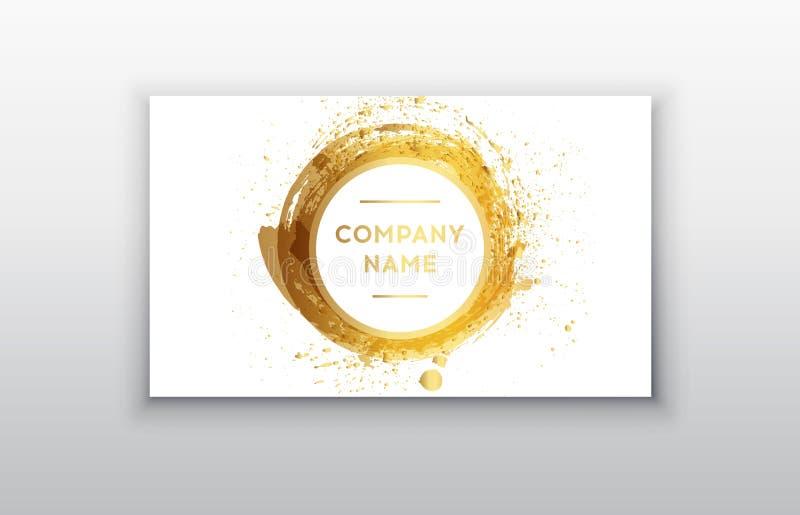 Zwarte en Gouden Ontwerpmalplaatjes voor Brochures, Vliegers, Mobiele Technologieën en de Online Diensten royalty-vrije illustratie