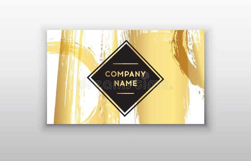 Zwarte en Gouden Ontwerpmalplaatjes voor Brochures, Vliegers, Mobiele Technologieën en de Online Diensten stock illustratie