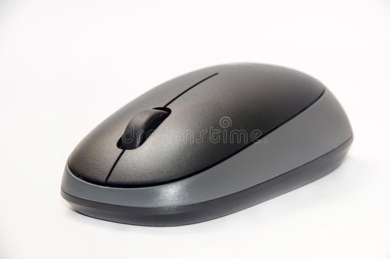 Zwarte en grijze draadloze muis royalty-vrije stock afbeelding