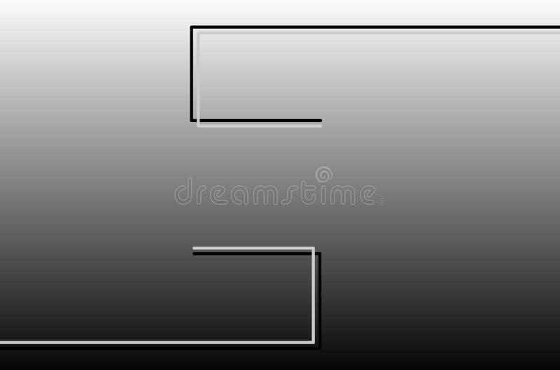 Zwarte en grijze lijnen, pretoe cinza van vetorlinhas vector illustratie