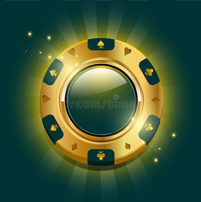 Zwarte en rode Casinospaander royalty-vrije illustratie