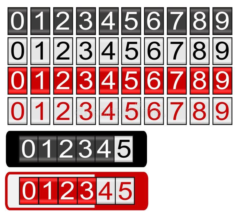 Zwarte en Rode Odometer vector illustratie