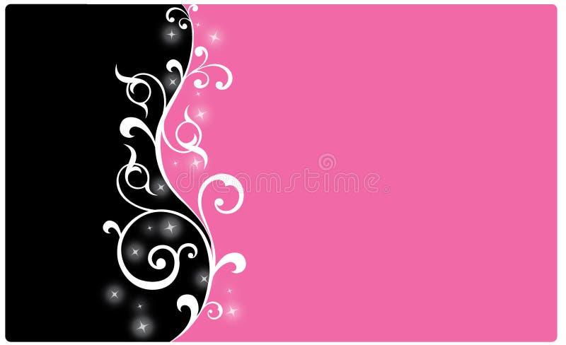 Zwarte en roze achtergrond royalty-vrije stock afbeeldingen