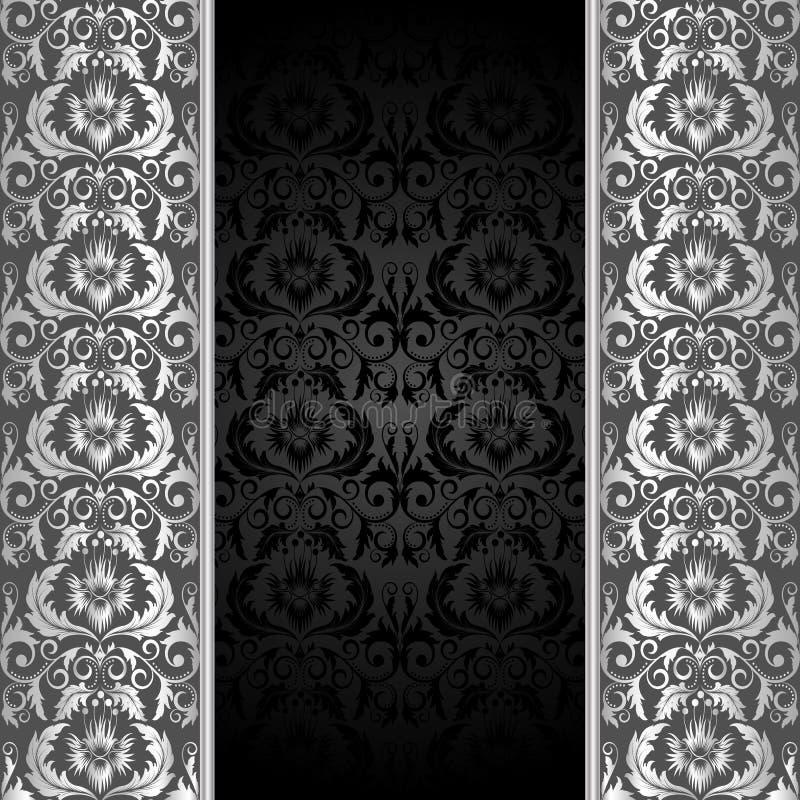 Zwarte en zilveren achtergrond vector illustratie