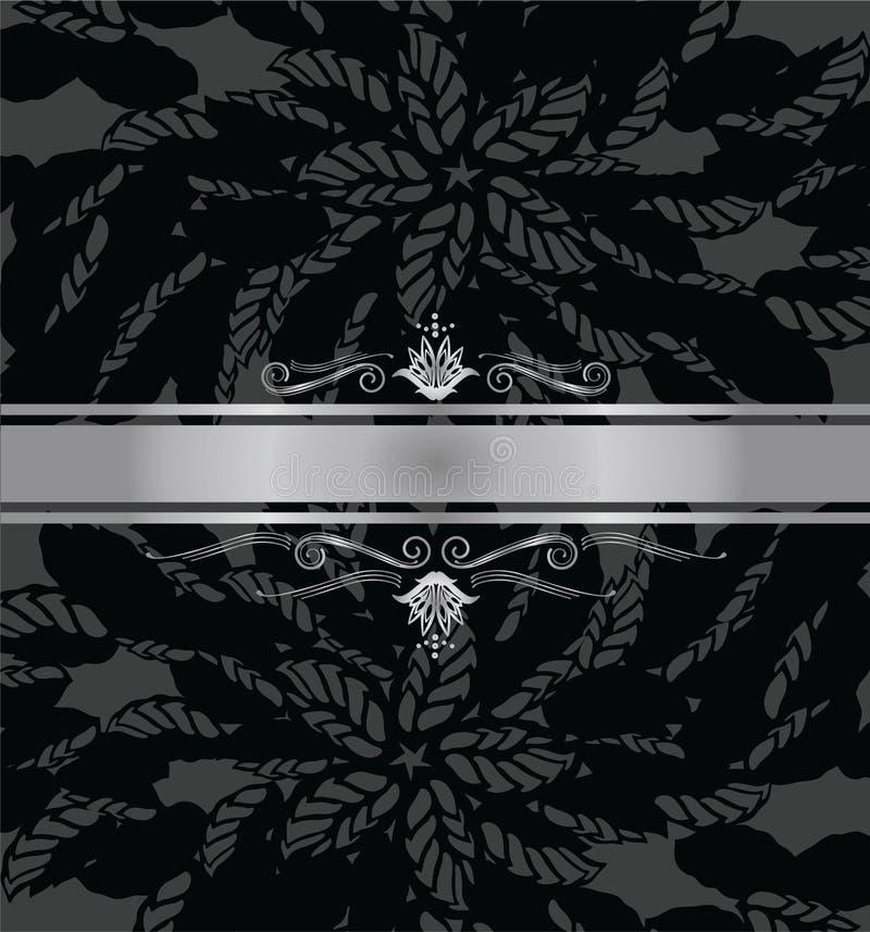 Zwarte en zilveren het boekdekking van de luxe stock illustratie