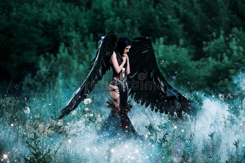 Zwarte engel royalty-vrije stock foto's