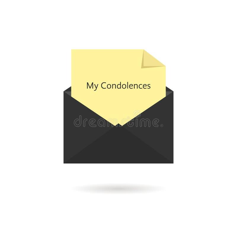 Zwarte envelop met mijn deelnemingsinschrijving  royalty-vrije illustratie