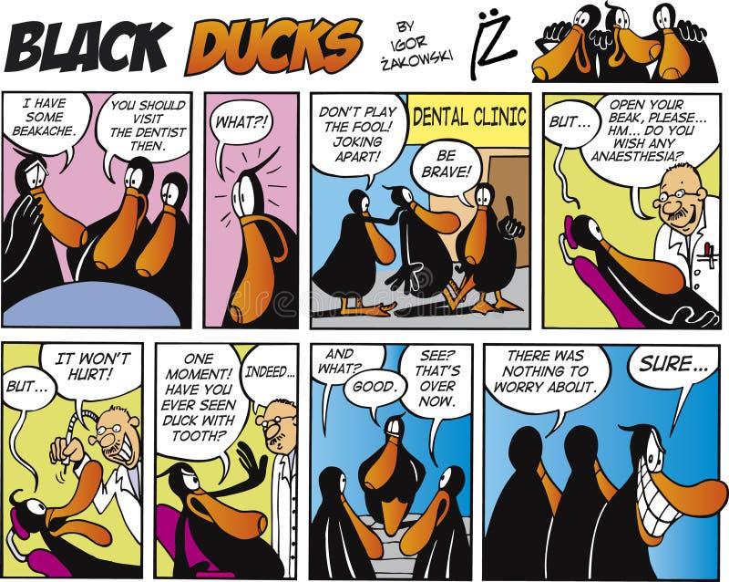 Zwarte episode 3 van het Stripverhaal van Eenden royalty-vrije illustratie
