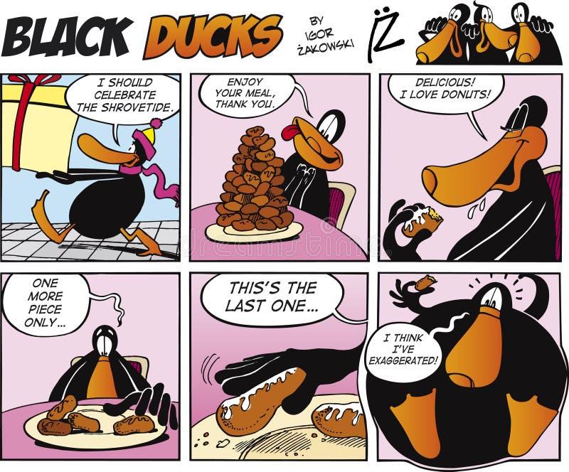 Zwarte episode 40 van het Stripverhaal van Eenden royalty-vrije illustratie