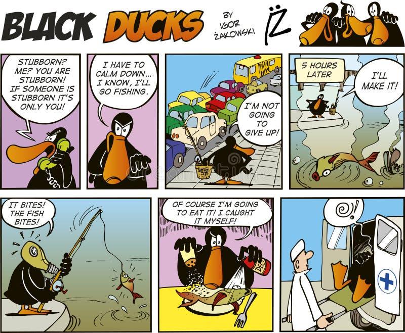 Zwarte episode 48 van de Strippagina van Eenden royalty-vrije illustratie