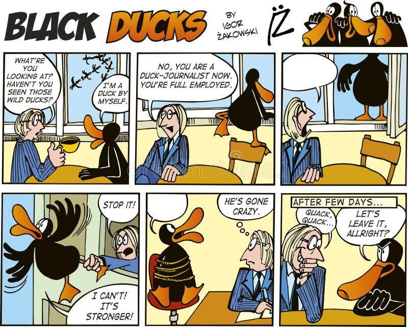 Zwarte episode 55 van de Strippagina van Eenden royalty-vrije illustratie
