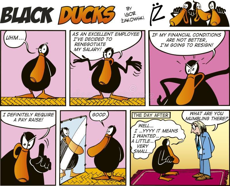 Zwarte episode 56 van de Strippagina van Eenden royalty-vrije illustratie