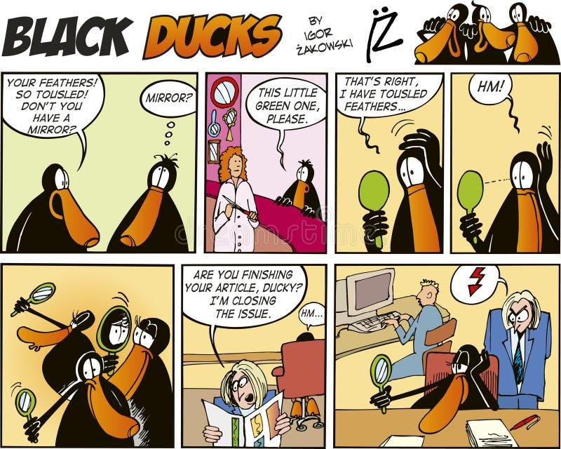 Zwarte episode 57 van de Strippagina van Eenden royalty-vrije illustratie