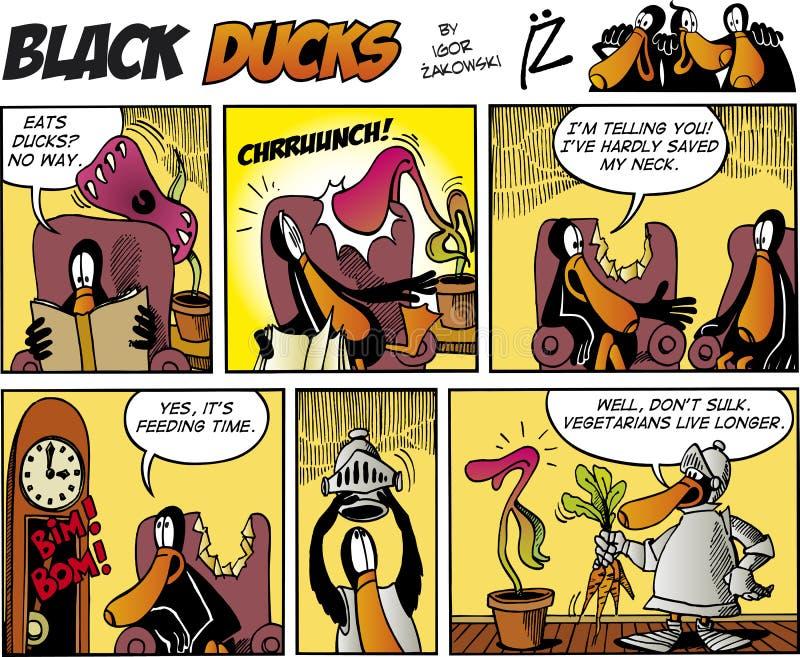 Zwarte episode 75 van de Strippagina van Eenden stock illustratie