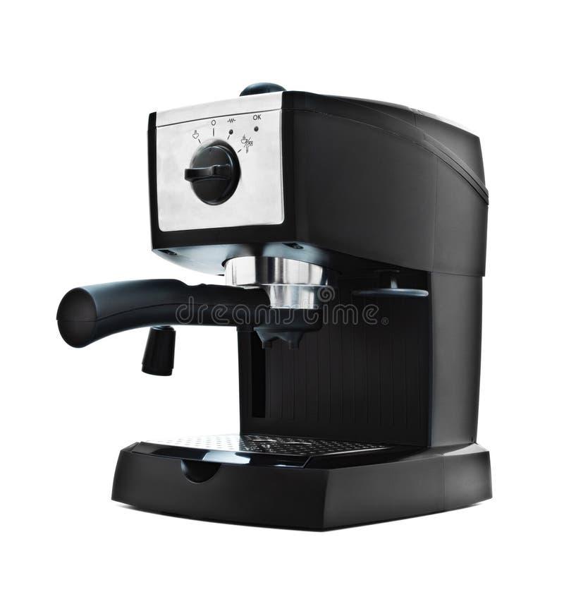 Zwarte espressomachine royalty-vrije stock afbeeldingen