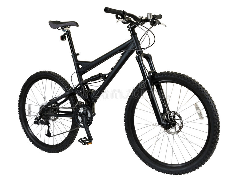 Zwarte fiets royalty-vrije stock fotografie