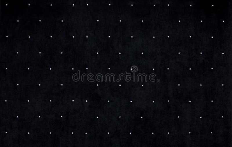 Zwarte fluweelachtergrond met kristallen vector illustratie