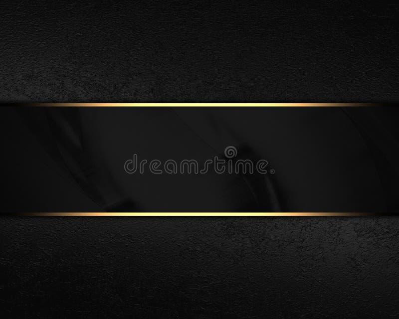 Zwarte fluweelachtergrond met zwarte plaat Element voor ontwerp op zwarte achtergrond Malplaatje voor ontwerp exemplaarruimte voo stock afbeelding