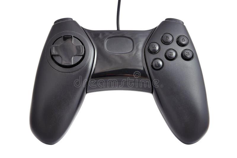 Zwarte gamepad stock afbeelding
