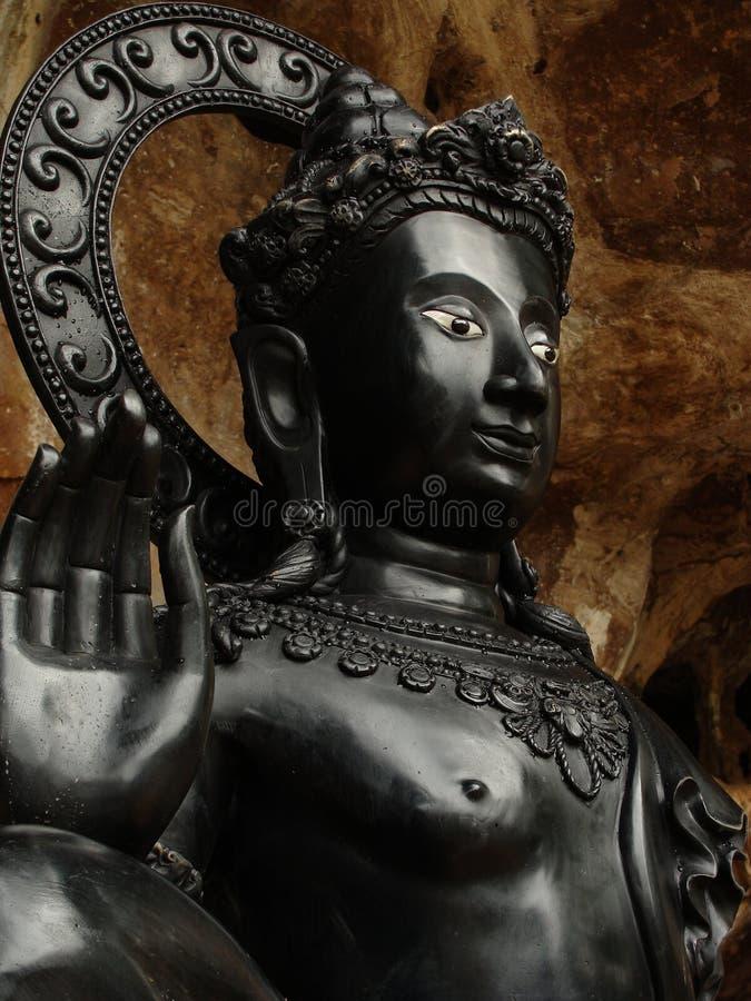 Zwarte Gautama Siddhartha Boedha royalty-vrije stock afbeelding