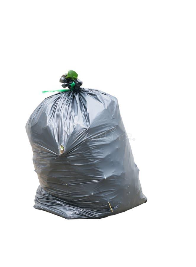 Zwarte geïsoleerde vuilniszakken royalty-vrije stock afbeeldingen