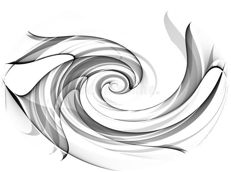 Zwarte Geïsoleerdek Wervelingen Swoosh vector illustratie