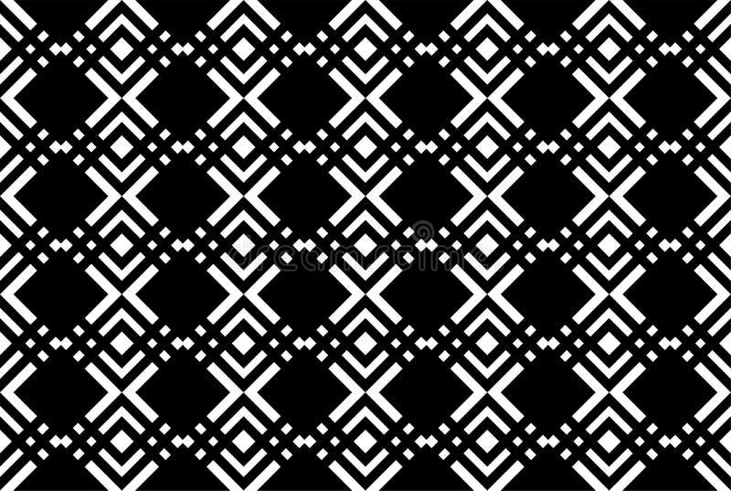 Zwarte geometrische achtergrond royalty-vrije illustratie