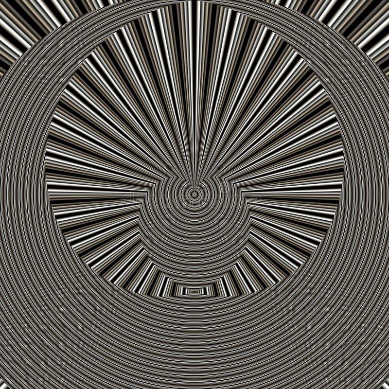 Zwarte geometrische samenvatting backgound in oranje tinten stock illustratie