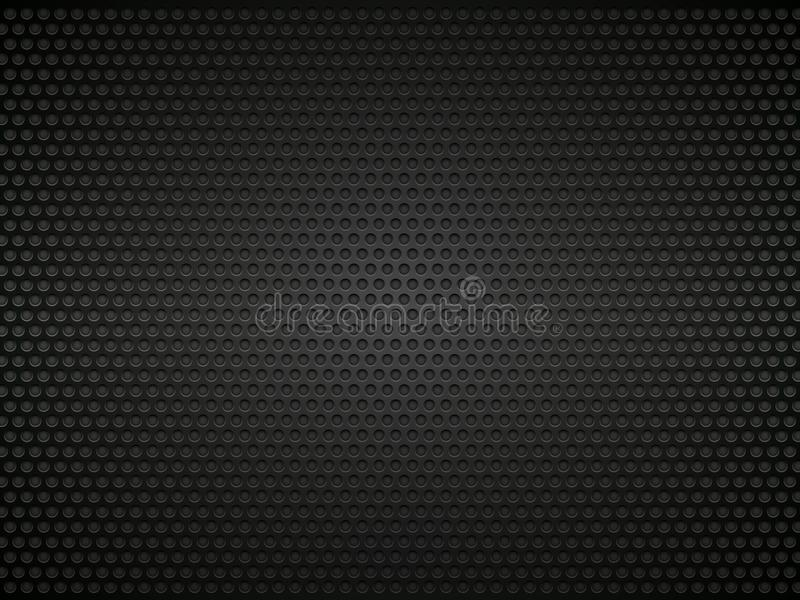 Zwarte geperforeerde metaalachtergrond vector illustratie