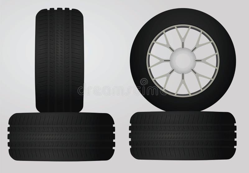Zwarte geplaatste banden stock illustratie