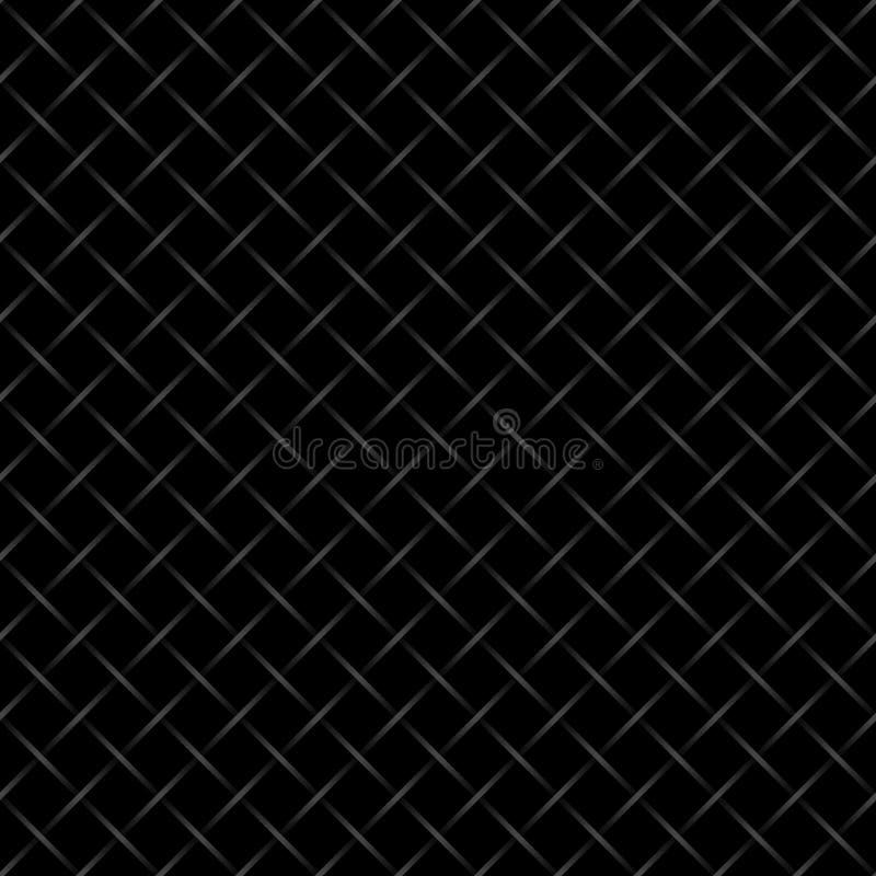 Zwarte geruite getelegrafeerde omheiningsachtergrond vector illustratie
