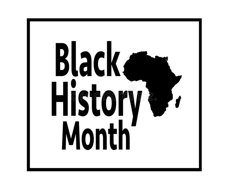Zwarte Geschiedenismaand vector illustratie