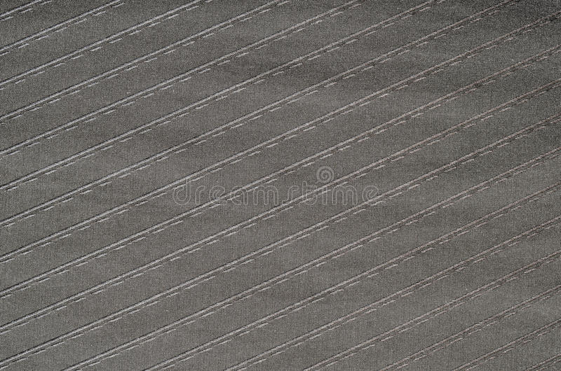 Zwarte gestreepte stoffentextuur stock fotografie