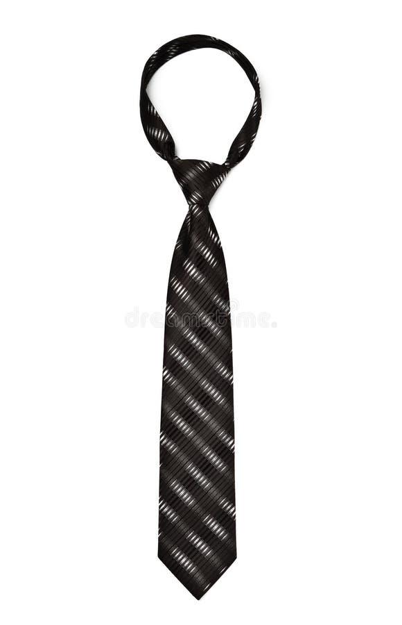 Zwarte gestreepte stropdas royalty-vrije stock foto