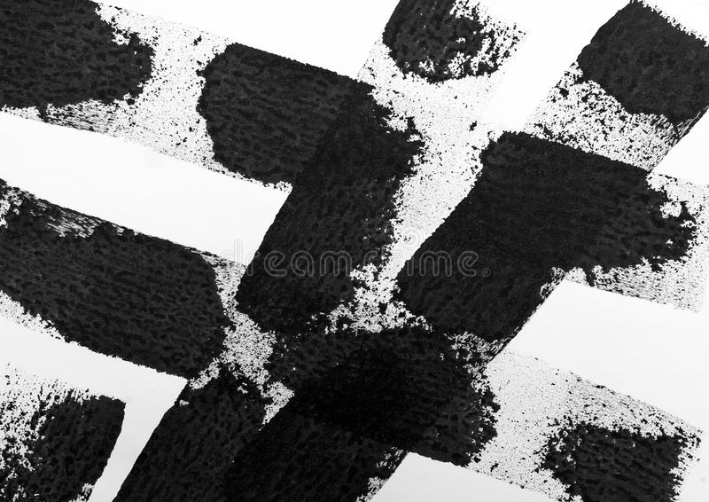 Zwarte gestreepte waterverf stock foto's