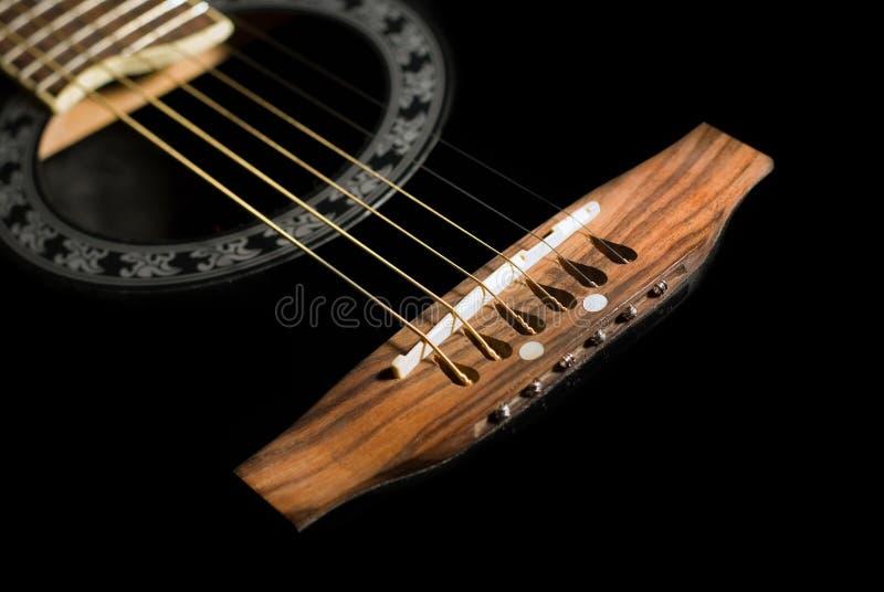 Zwarte gitaar stock fotografie
