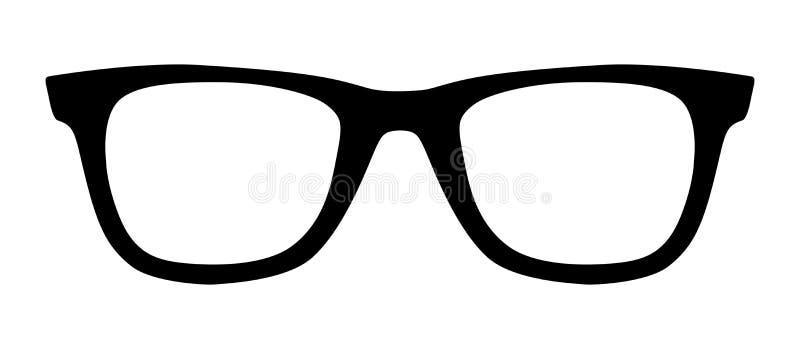 Zwarte glazen vector illustratie