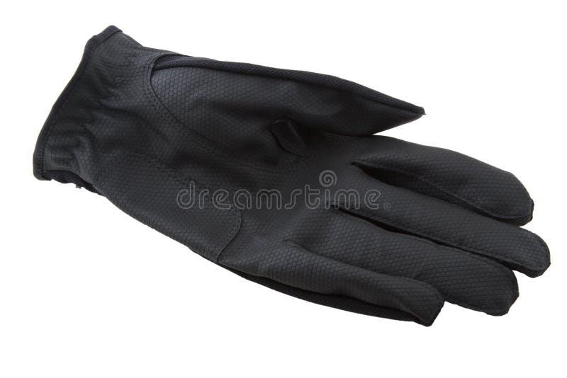 Zwarte golfhandschoen royalty-vrije stock foto